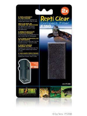 Exo Terra Repti Clear 150 Replacement Foam 2pk