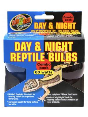 Zoo Med Day & Night Reptile Bulb Combo Pack  60w