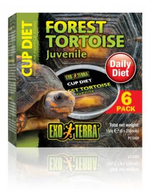 Exo Terra Cupped Forest Tortoise Diet 6 Pk