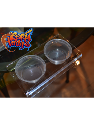 Repti Ledge Original Elevated Suctioned Acrylic Feeder