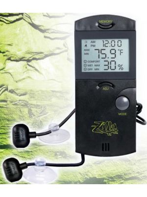 Zilla Digital Thermometer Hygrometer w/Probe