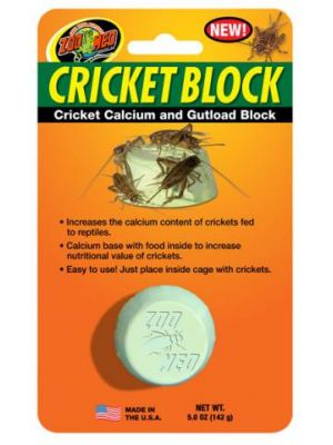 Zoo Med Cricket Block- Cricket Calcium and Gutload