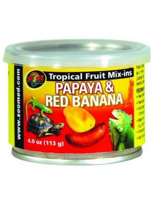 Zoo Med Tropical Fruit Mix-ins Papaya & Red Banana
