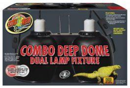 Zoo Med Combo Deep Dome Dual Lamp Fixture Buy Reptile