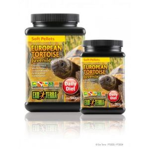 Exo Terra Soft Pellet Juvenile European Tortoise Food